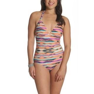 76bd91f760c Shop Jantzen Women's Fuchsia One-piece Bandeau Swimsuit - Free ...