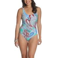 f515e4b619b5c Shop Unique Vintage Mrs. Parker Tropical Palm Tree Swimsuit - Free ...