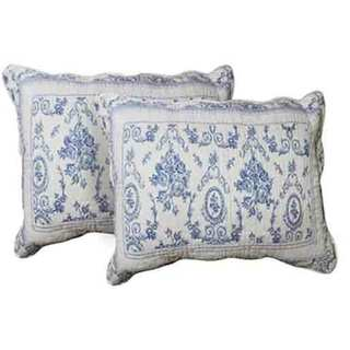 Blue Wisteria Lattice King Shams set-2 pcs