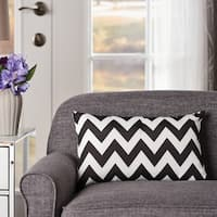 Ernest Zig Zag Striped Rectangle Pillow by Christopher Knight Home