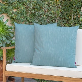 Belflower Outdoor Square Pillow (Set of 2) by Christopher Knight Home