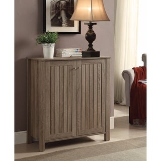 Sophisticated Wooden Shoe Cabinet, Gray