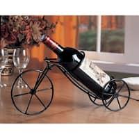 Bicycle-Inspired Metal Wine Holder, Black, Set of 6