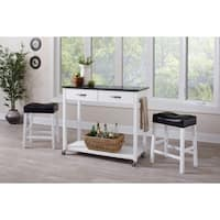 The Gray Barn Madigan 3-piece White and Black Bar Set