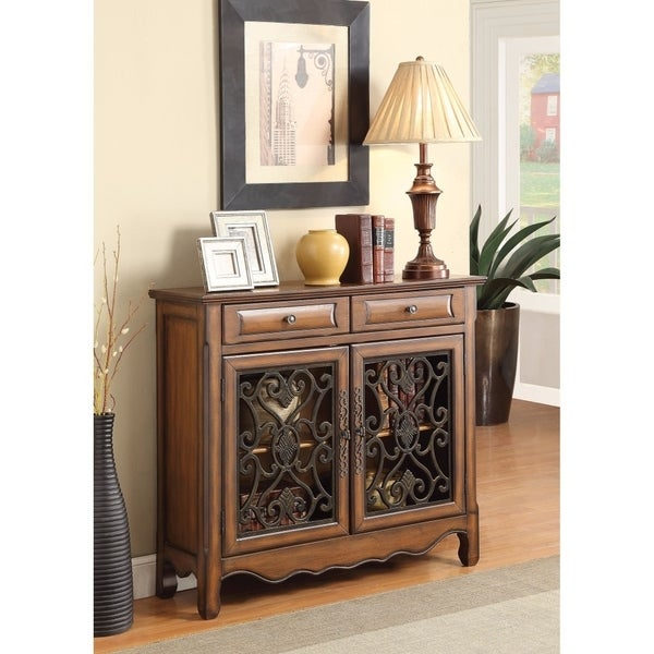 Shop Old Style Wooden Accent Cabinet With Storage Drawers