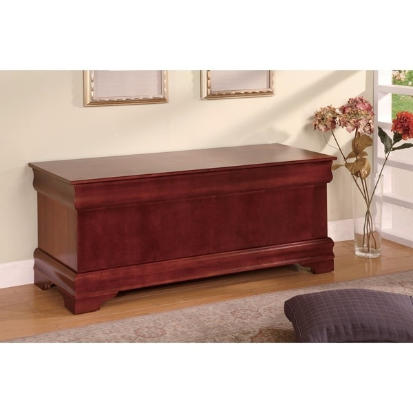 Traditional Style Wooden Cedar Chest, Brown