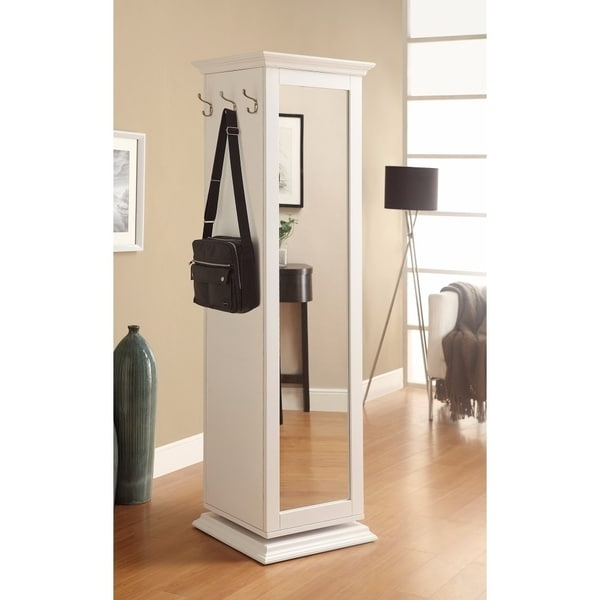 Casual Style Metal Accent Cabinet,White