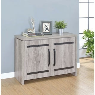 Spacious Wooden Accent Cabinet, Gray