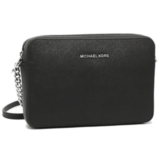Link to Michael Kors Jet Set Large Black Cross-body Bag w/ Silvertone Hardware Similar Items in Shop By Style