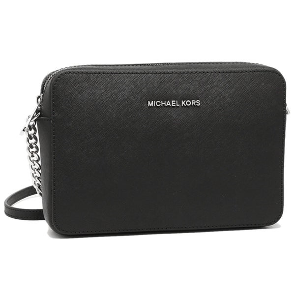70f69a4e92 MICHAEL Michael Kors Jet Set Travel Large Crossbody Black Silver Hardware