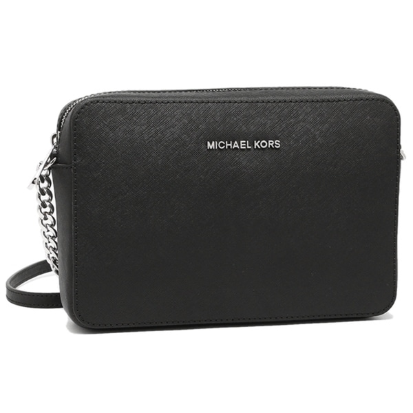 9306b678d33f15 MICHAEL Michael Kors Jet Set Travel Large Crossbody Black/Silver Hardware