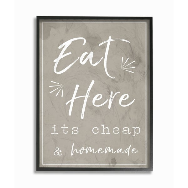 Stupell Industries Eat Here Home Cooking Wall Art
