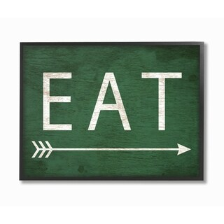 Stupell Industries Eat With Arrow Green Wall Art