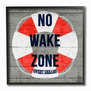 Stupell Industries No Wake Zone Life Raft Wall Art - 12 x 12