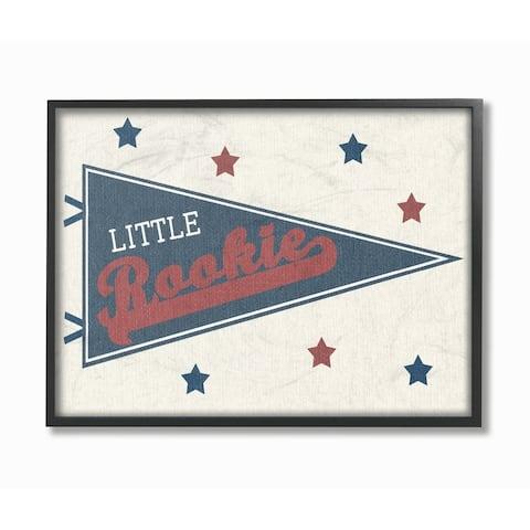 Stupell Industries Little Rookie Pennant Wall Art