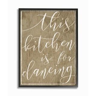 Stupell Industries Kitchen is For Dancing Wall Art (2 options available)
