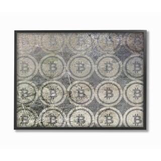 Stupell Industries Bitcoin Pattern Wall Art