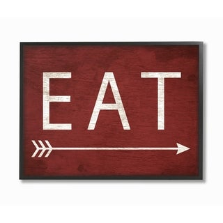 Stupell Industries Eat With Arrow Red Wall Art