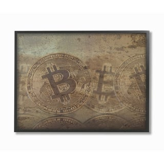 Stupell Industries Bitcoin Distressed Wall Art