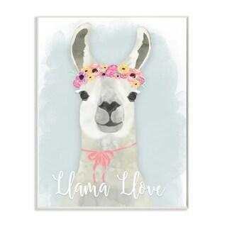 Stupell Industries Llama Love Pink Tiara Wall Art