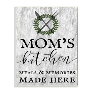 Stupell Industries Mom's Kitchen Meals Wall Art