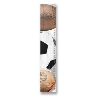Stupell Industries Sports Wood Plank Wall Art - 7 x 39