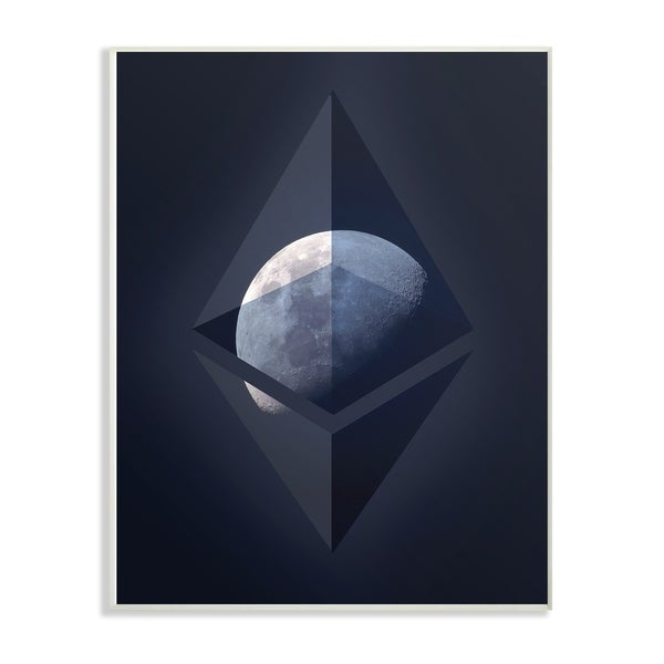 Stupell Industries Ethereum On The Moon Wall Art