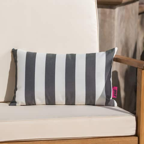 Coronado Outdoor Stripe Rectangle Pillow by Christopher Knight Home