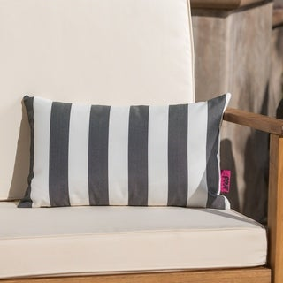Link to Coronado Outdoor Stripe Rectangle Pillow by Christopher Knight Home Similar Items in Outdoor Cushions & Pillows