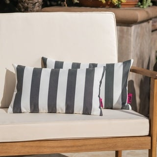 Coronado Outdoor Stripe Pillow (Set of 2) by Christopher Knight Home
