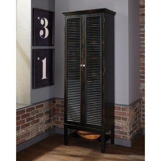 Unique Tall Wooden Wine Cabinet, Brown