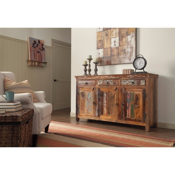 Well-Made Wooden Accent Cabinet, Brown