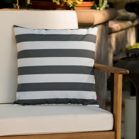 Coronado Outdoor Stripe Square Pillow by Christopher Knight Home