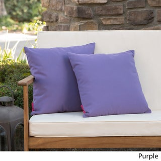 Coronado Outdoor Pillow (Set of 2) by Christopher Knight Home (Option: Purple)