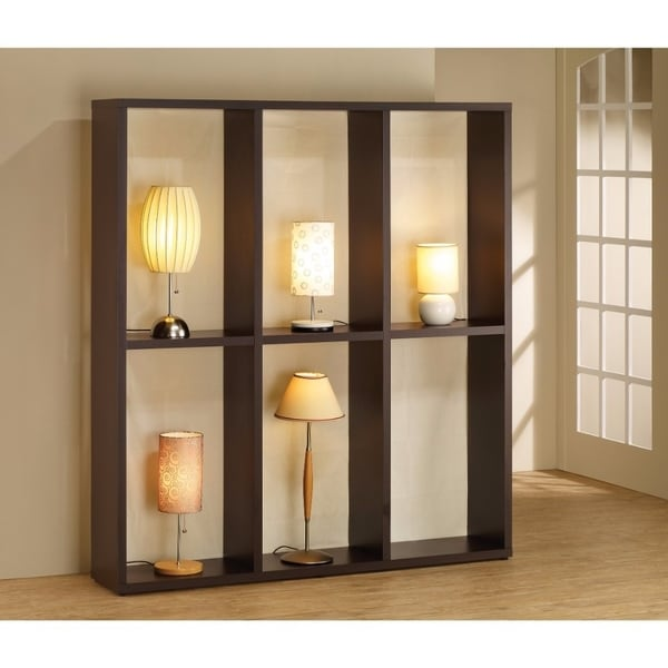 Modern Wooden Lamp Display, Brown
