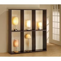 Modern Wooden Lamp Display, Brown