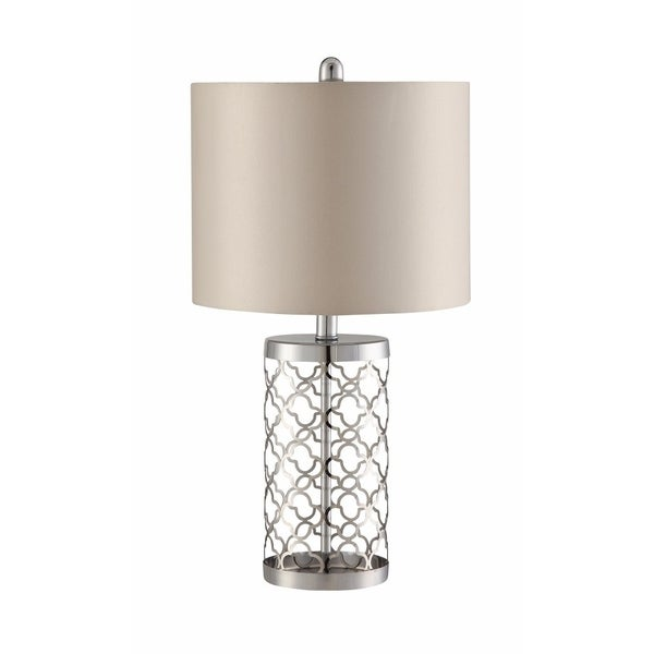 Table Lamp With Detailed Design Base, Silver