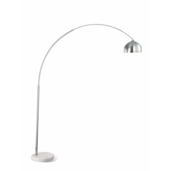 Contemporary Metal Arch Floor Lamp, Silver