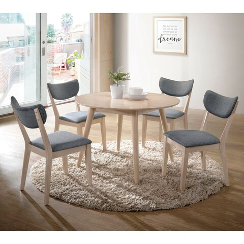 Furniture of America Seto Mid-Century Modern Natural Tone Round Dining Table - Tan