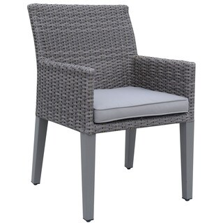 Furniture of America Dev Contemporary Grey Weather Resistant Patio Arm Chairs (Set of 2)