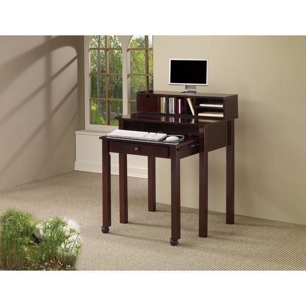 Traditional Wooden Writing Desk, Brown
