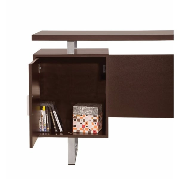 Shop Double Pedestal Office Desk With Metal Sled Legs