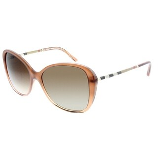 Burberry Butterfly BE 4235QF Asian Fit 317313 Women Brown Gradient Frame Brown Gradient Lens Sunglasses