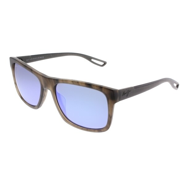 45c5b6cf837 Maui Jim Wayfarer Maui B76 Chee Hoo! 14B Unisex Storm Grey Frame Blue  Mirrored Lens