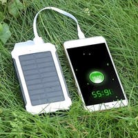 Portable Waterproof 80000mAh Dual USB Port Solar Power Bank External Battery Charger for Cellphone