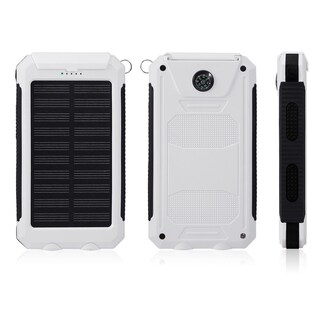 Portable Waterproof 80000mAh Dual USB Port Solar Power Bank External Battery Charger for Cellphone