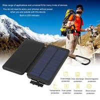 Portable Solar Power 10000mAh Power Bank External Battery Charger for Cellphone