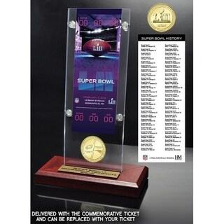 Super Bowl 52 Commemorative Ticket Holder and Flip Coin (NEP vs PE) - Multi-color