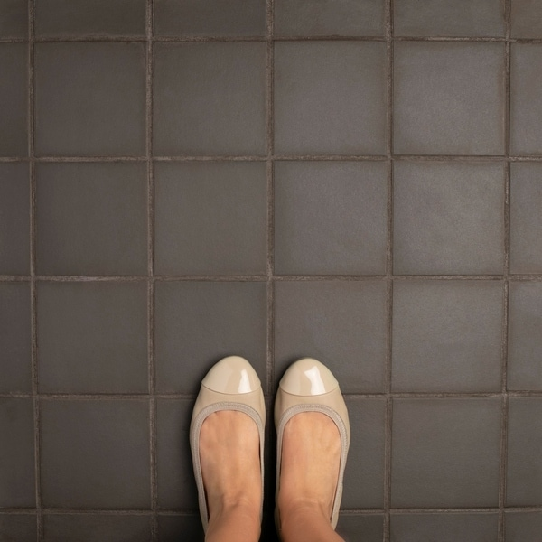 Shop SomerTile Xinch Clinker Chocolate Black Quarry Floor And - 6x6 black floor tile