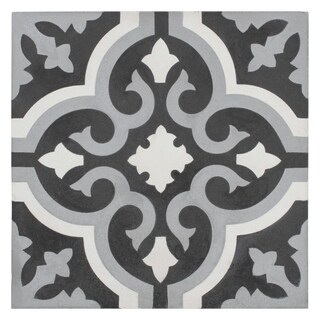 SomerTile 7.875x7.875-inch Cement Cavado Luna Cement Floor and Wall Tile (12/Case, 5.5 sqft.)